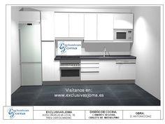 Nuevos diseños de las cocinas del Nuevo Tres Cantos. Si estáis interesados en saber precios sobre muebles de cocina, encimeras, electrodomésticos, etc.  ven e infórmate de nuestras ofertas!!  Visítanos en : www.exclusivasjoma.es