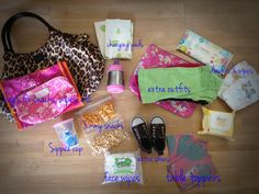 What's in my diaper bag? Tips for stocking yours! 20 month old, potty training, organization.