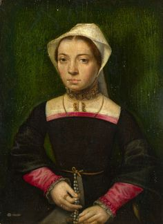 Catharina van Hemessen - A Lady with a Rosary