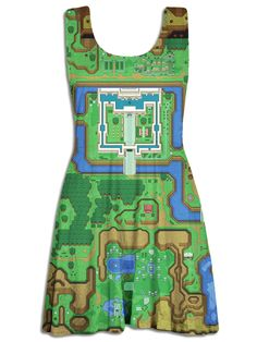 Legend of Zelda - Light and Dark World Skater Dress from Much Needed Merch #Gaming #GeekFashion