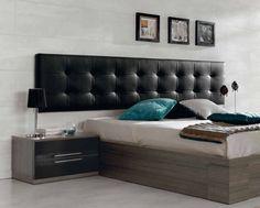 Cabecero galería tapizado en color negro