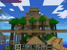 (W1) Tree house near tower 1 and 2  in Minecraft PE