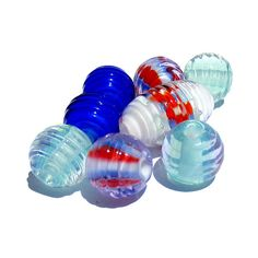 Handmade Lampwork Glass Focal Bead Flattened by PomegranateGlass