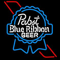 Pabst Sky Blue Red Ribbon Neon Beer Sign, Pabst  Neon Beer Signs & Lights | Neon Beer Signs & Lights. Makes a great gift. High impact, eye catching, real glass tube neon sign. In stock. Ships in 5 days or less. Brand New Indoor Neon Sign. Neon Tube thickness is 9MM. All Neon Signs have 1 year warranty and 0% breakage guarantee.