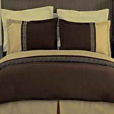 Modern Gold Brown Lightweight 3-piece Microfiber Bedding Duvet Comforter Cover and Shams Set