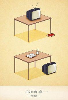 Utilidades de los libros y la televisión.