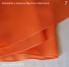 Great information on techniques for sewing narrow hems, seams and bias binding using chiffon & gauze.
