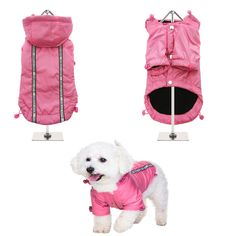 NEW - Pink Rainstorm Rain Coat - Rain Jacket For All Sized Dogs - Dog Jackets - Pet Supplies - Dog Raincoat - Dog Waterproof Coat Puppy Collars, Leather Dog Collars, Dog Jacket, Rain Jacket, Dog Raincoat, Waterproof Coat, Body Warmer, Dog Coats, Pet Accessories