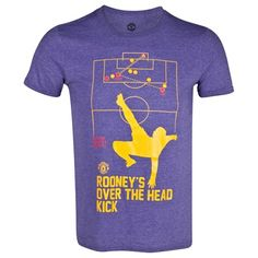 Manchester United Rooney Over the head Kick Goal T-Shirt - Heather Purple - Mens