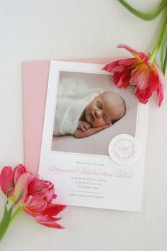 Baby Photo Birth Announcements Letterpress by SweetlySaidPress