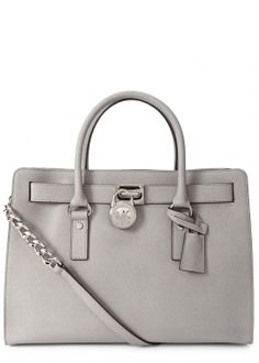 Hamilton grey grained leather tote
