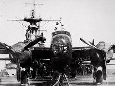 "lex-for-lexington: "" James Doolittle's B-25 Mitchell bomber on the deck of USS Hornet (CV-8), 16 April 1942. (Source) """