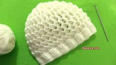 Crochet 3 D Cap - Crochet Ideas Animal Knitting Patterns, Baby Hat Patterns, Crochet Patterns, Crochet Ideas, Crochet Beanie Hat, Crochet Baby Hats, Knitted Hats, Crochet Stitches, Knit Crochet
