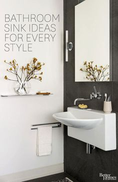 Bathroom sinks come in all shapes and sizes to fit your unique style: http://www.bhg.com/bathroom/sinks/bathroom-sink-ideas/?socsrc=bhgpin032214bathroomsinks