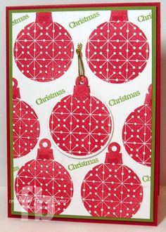 created by Frances Byrne using The Stamps of Life's ornaments4Christmas; moreornaments4Christmas