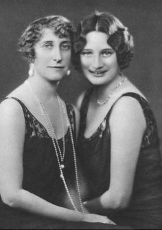 Princess Astrid of Sweden and her mother, Ingeborg.