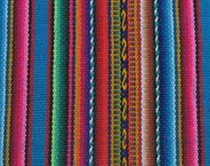 Peruvian Fabric Textile striped cloth made in Cuzco PERU SP04