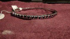 vintage sterling silver and sapphire bangle bracelet by NewYorkJunk on Etsy