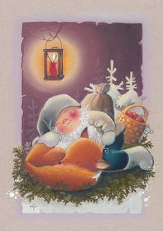 Kaarina Toivanen, Christmas card 10 x Finland Merry Christmas Baby, Vintage Christmas Cards, Xmas Cards, Vintage Cards, Christmas Time, Scandinavian Gnomes, Scandinavian Christmas, Vintage Pictures, Cute Pictures