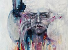 a hint of color Art Print by agnes-cecile