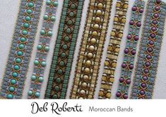Moroccan Bands beaded pattern tutorial by Deb Roberti