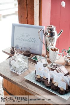 Hot Chocolate Bar  www.kiss-the-brid...