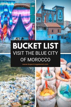Welcome to Chefchaouen, the blue city of Morocco. It's famous for all the houses and shops painted different shades of blue. A magical place to get lost in with your camera! Here are some tips and suggestions for things to do in Chefchaouen. Visit Morocco, Morocco Travel, Africa Travel, Italy Travel, Travel Europe, Travel News, Travel Advice, Travel Guides, Travel Plan