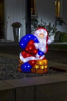 Ho ho hoo! Kerstman in een schoorsteen. Zowel binnen als buiten geschikt.