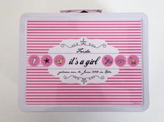 Geschenk zur Geburt, Babykoffer, Inspiration, Blechkoffer