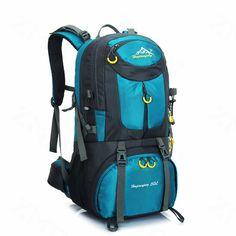 212cc9457d 50L Waterproof Hiking Backpack Camping Bag Outdoor Travel equipment Sport  package Climbing Rucksack Huwaijianfeng1688 Review Travel
