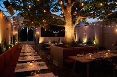 The brasserie's romantic back patio takes advantage of the Southern California weather. Credit: Copy... - Jesus Banuelos