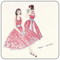 FREE Vintage Dress Pattern and Tutorial (50s style). This dress has a perfect fit due to the elastics in the back side of the bodice. And it's gorgeous! Yes I want someone to make this so freaking bad ;( :(