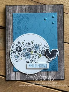 Happy Friday stampin' friends! It's a very happy Friday for me because it's my last day of work!! I start my new job on Tuesday, which wi...