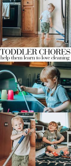 toddler chores: help your toddler learn to love cleaning