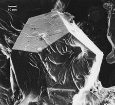 electron microscope image - aluminum-copper-iron