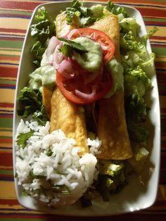 Buffalo Chicken Flautas - Hispanic Kitchen