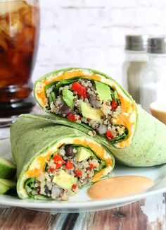 Not sure what to do with leftovers? Try making this quinoa veggie burrito for lunch or dinner. Super easy to put together!