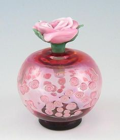 Saved from Artful Home 'roses' art glass perfume bottle