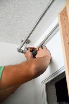 DIY Bypass Closet Doors for girls' room