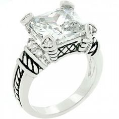 The Enchanting White Cocktail Ring @ Inspired Silver