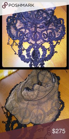 Anne Fontaine neck applique. PRECIOUS collection. Worn only once, perfect condition. Precious Collection. Anne Fontaine Accessories Scarves & Wraps