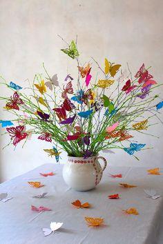 Wedding decoration butterflies bouquet in spring by Koelnschaetze, €34.90