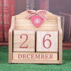 Calendars, Planners & Cards Kicute Vintage Mediterranean Style Wood Perpetual Calendar Diy Calendar Art Crafts Home Office School Desk Decoration Gifts Complete Range Of Articles