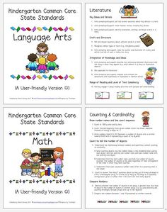 Kindergarten common core standards - I have been looking for something like this!!!! :)