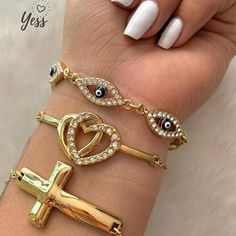 Nice Jewelry, Glamour, Bracelets, Gold, Gold Plating, Tips, Jewels, Accessories, Bracelet