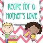 """Cute recipe on how to """"make"""" a mother's love. Students fill in their own ideas on how to make a momma's love! Included is a tried and true sugar cookie recipe! Father's Day Activities, First Grade Activities, 1st Grade Worksheets, Love Mom, Mothers Love, Happy Mothers Day, School Holidays, School Days, School Stuff"""