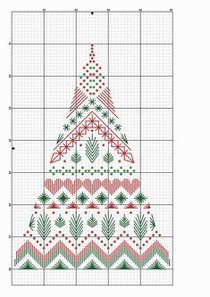 Modern Christmas Tree for Cross Stitch Motifs Blackwork, Blackwork Cross Stitch, Blackwork Embroidery, Counted Cross Stitch Patterns, Cross Stitch Charts, Cross Stitching, Cross Stitch Embroidery, Embroidery Patterns, Vintage Embroidery