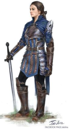 padded leather armour female fighter / paladin with sword RPG character portrait inspiration Dungeons And Dragons Characters, Dnd Characters, Fantasy Characters, Female Characters, Female Armor, Female Knight, Inspiration Drawing, Character Inspiration, Portrait Inspiration