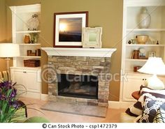 Stock Photo - Stone Fireplace - stock image, images, royalty free photo, stock photos, stock photograph, stock photographs, picture, pictures, graphic, graphics