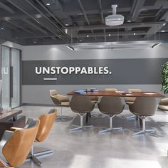 Buying Very Cheap Office Furniture Correctly Office Wall Design, Office Wall Decals, Modern Office Design, Office Walls, Office Interior Design, Office Interiors, Home Interior, Office Decor, Ikea Office
